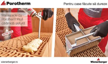 Construiești mai repede cu Porotherm Profi – cărămidă șlefuită!