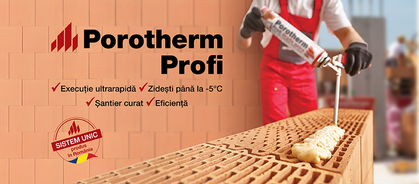 Porotherm Profi – cărămidă șlefuită pentru a zidi rapid