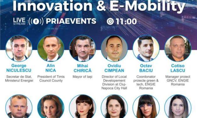 Conferința PRIA Urban Innovation & E-Mobility, organizată pe 15 aprilie