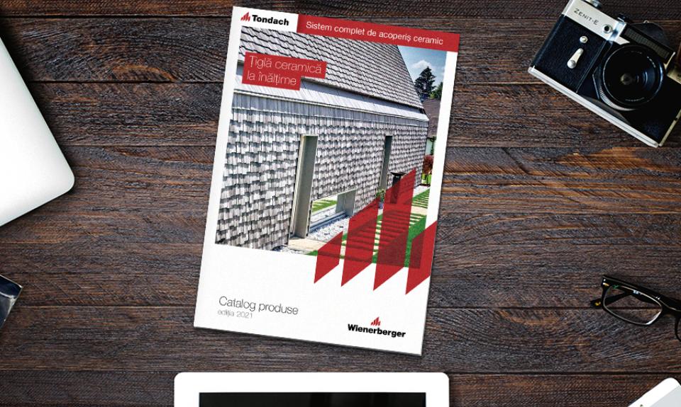 """Tondach lansează noul catalog """"Sistem complet de acoperiș ceramic 2021"""""""