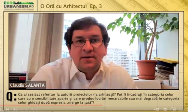 """Arh. Claudiu Salanță la """"O oră cu arhitectul"""": Arhitectura rurală este o piață care poate susține activitatea unui birou de arhitectură"""