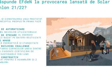 EFdeN lansează EFdeN VATRA, proiectul care va reprezenta România la Solar Decathlon Europe 21/22