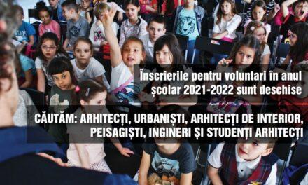 Înscrierea voluntarilor îndrumători în cadrul asociației De-a Arhitectura