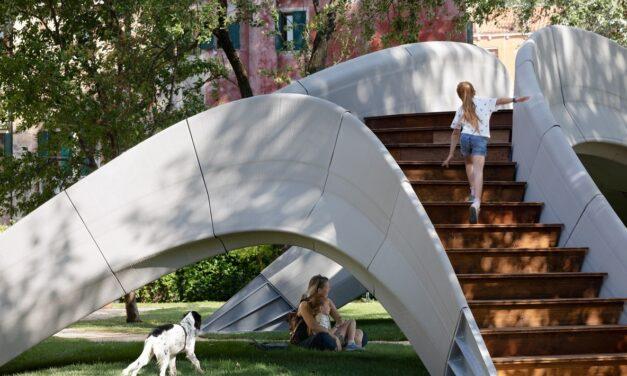 Primul pod realizat cu beton printat 3D, dezvăluit în cadrul Bienalei de Arhitectură de la Veneţia