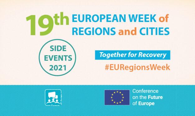 Săptămâna europeană a regiunilor și orașelor: Împreună pentru redresare