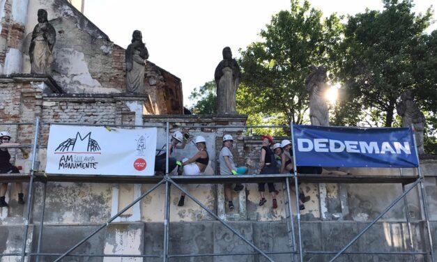 Zidul baroc al Bisericii ortodoxe din Hilișeu-Crișan, Botoșani, restaurat de Ambulanța pentru Monumente