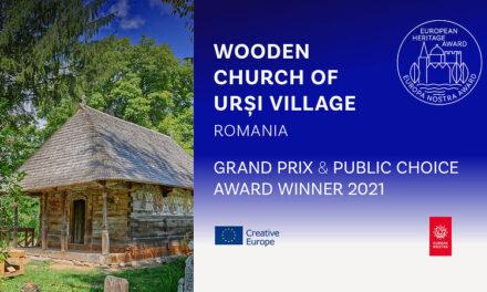 Grand Prix şi Premiul Publicului pentru Biserica de Lemn din Urşi la Premiile Europene pentru Patrimoniu/Premiile Europa Nostra